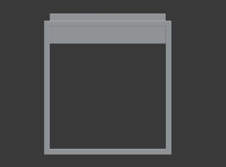 Nowoczesna szafka nocna royalty-free 3d model - Preview no. 4