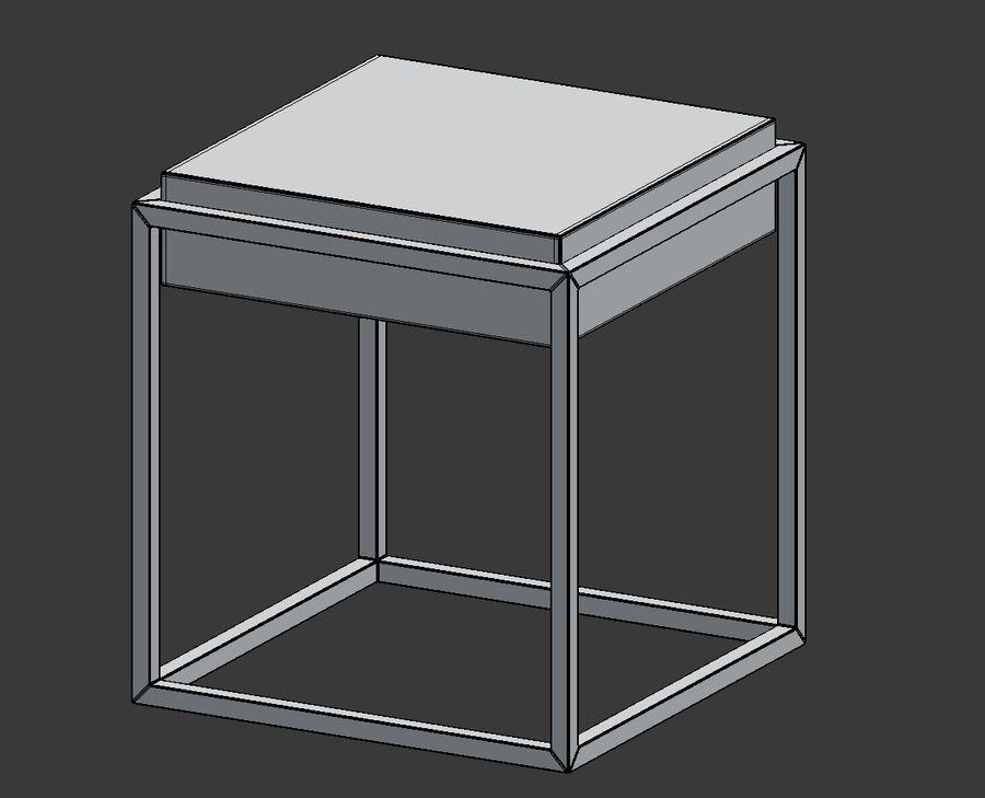 Nowoczesna szafka nocna royalty-free 3d model - Preview no. 6
