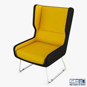 训练扶手椅 3d model