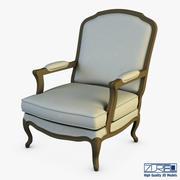 博卡扶手椅 3d model