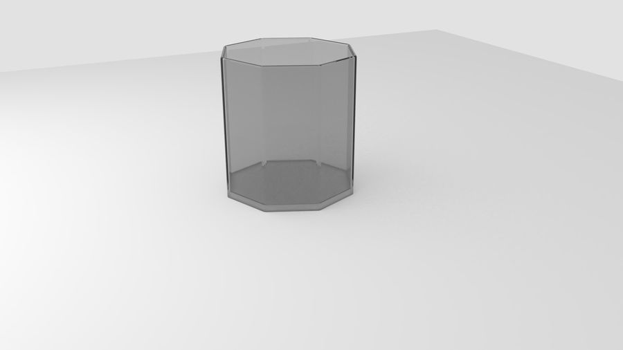 Alcohol glass collection royalty-free 3d model - Preview no. 6