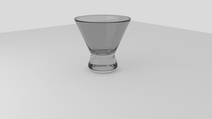Alcohol glass collection royalty-free 3d model - Preview no. 7