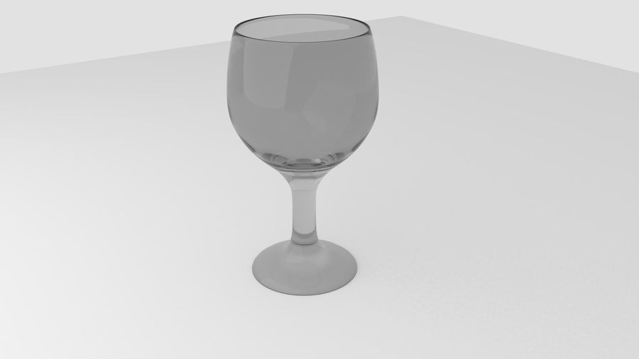 Alcohol glass collection royalty-free 3d model - Preview no. 5