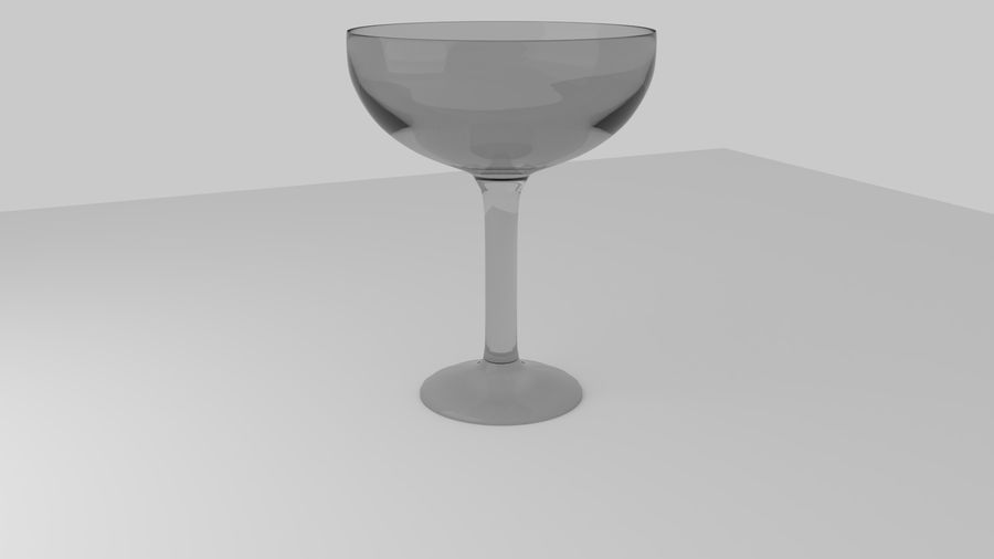 Alcohol glass collection royalty-free 3d model - Preview no. 3