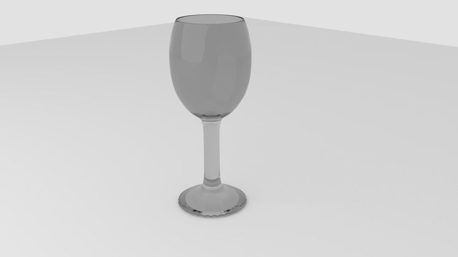 Alcohol glass collection royalty-free 3d model - Preview no. 9