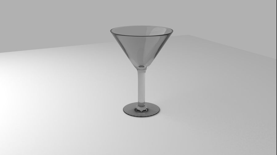 Alcohol glass collection royalty-free 3d model - Preview no. 4