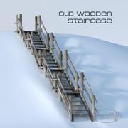 Scala in legno 3d model