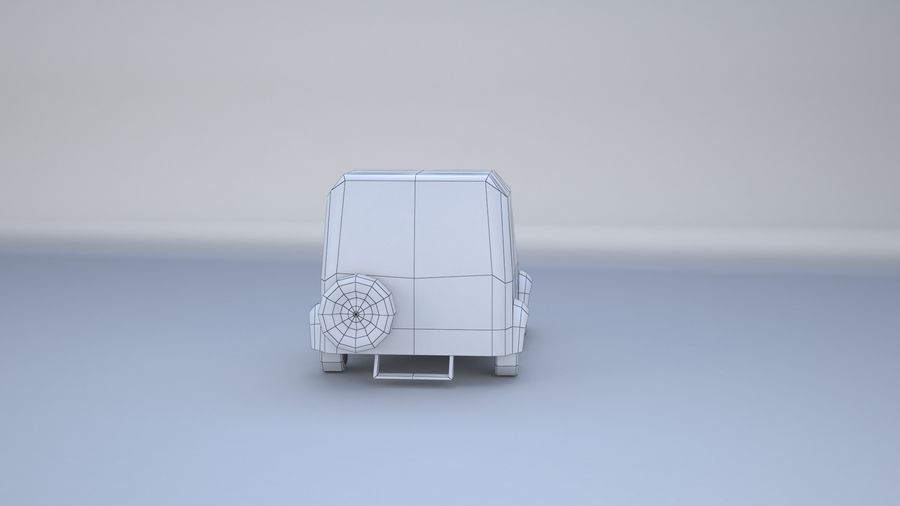 Car jeep 4x4 royalty-free 3d model - Preview no. 14