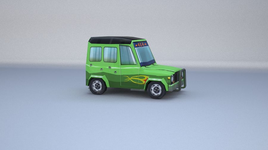 Car jeep 4x4 royalty-free 3d model - Preview no. 8