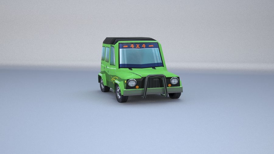 Car jeep 4x4 royalty-free 3d model - Preview no. 6