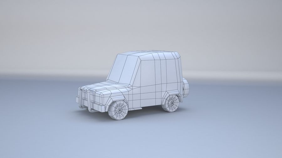 Car jeep 4x4 royalty-free 3d model - Preview no. 3