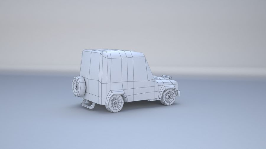 Car jeep 4x4 royalty-free 3d model - Preview no. 12