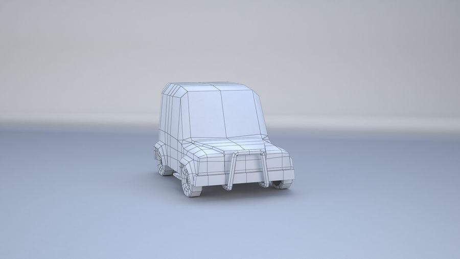 Car jeep 4x4 royalty-free 3d model - Preview no. 9