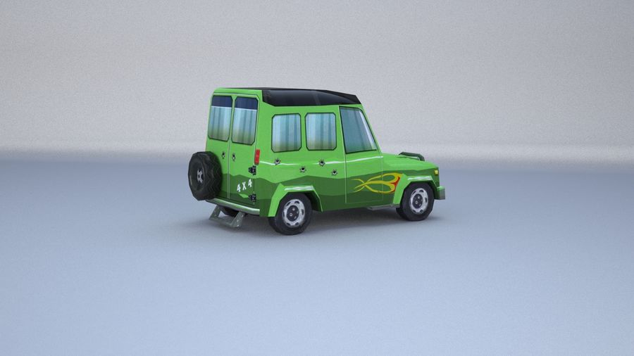 Car jeep 4x4 royalty-free 3d model - Preview no. 10