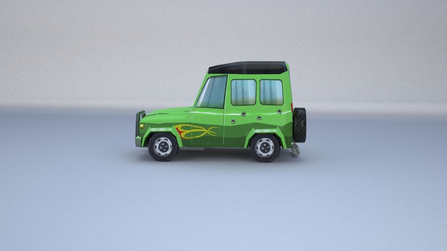 Car jeep 4x4 royalty-free 3d model - Preview no. 17