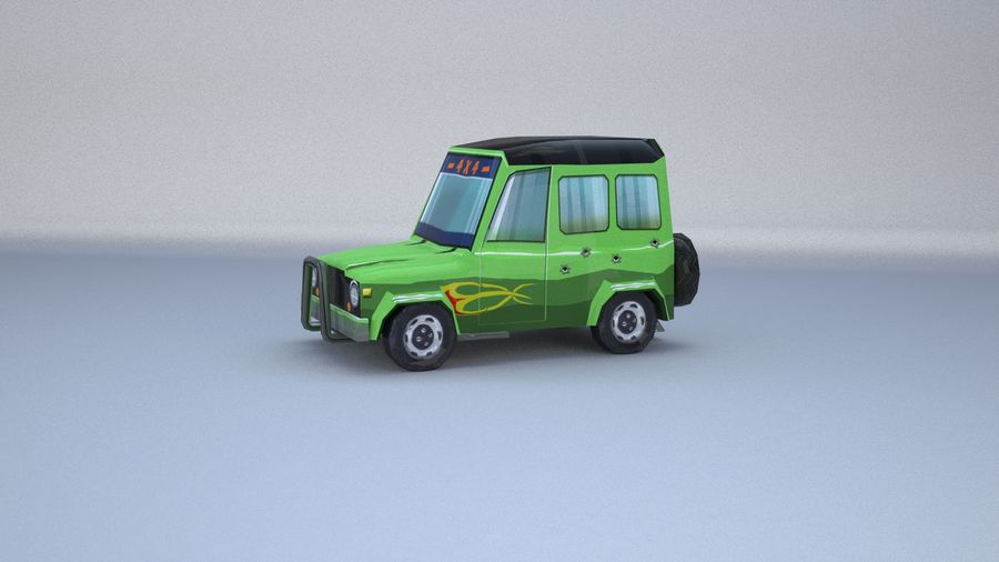 Car jeep 4x4 royalty-free 3d model - Preview no. 19