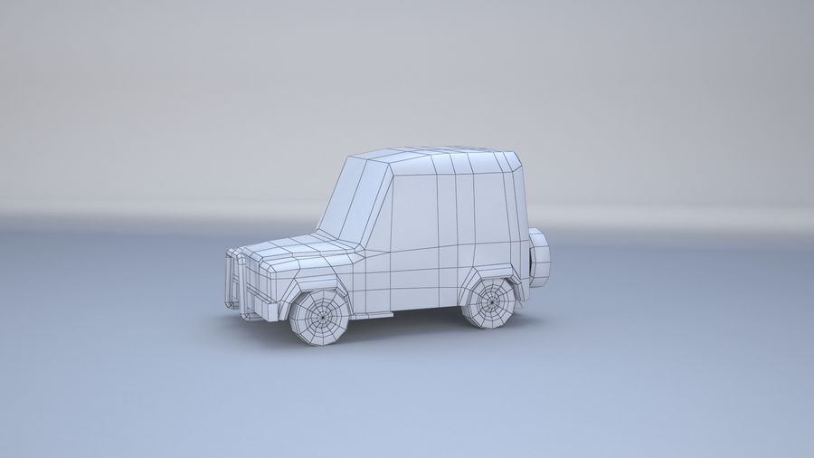 Car jeep 4x4 royalty-free 3d model - Preview no. 20