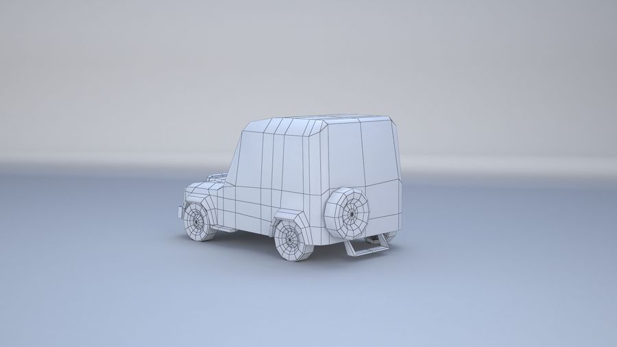 Car jeep 4x4 royalty-free 3d model - Preview no. 16