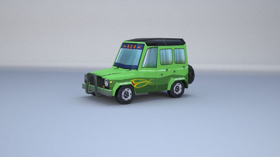 Car jeep 4x4 royalty-free 3d model - Preview no. 21