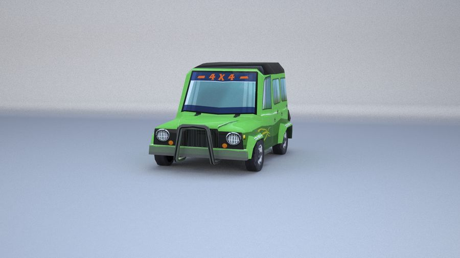 Car jeep 4x4 royalty-free 3d model - Preview no. 4