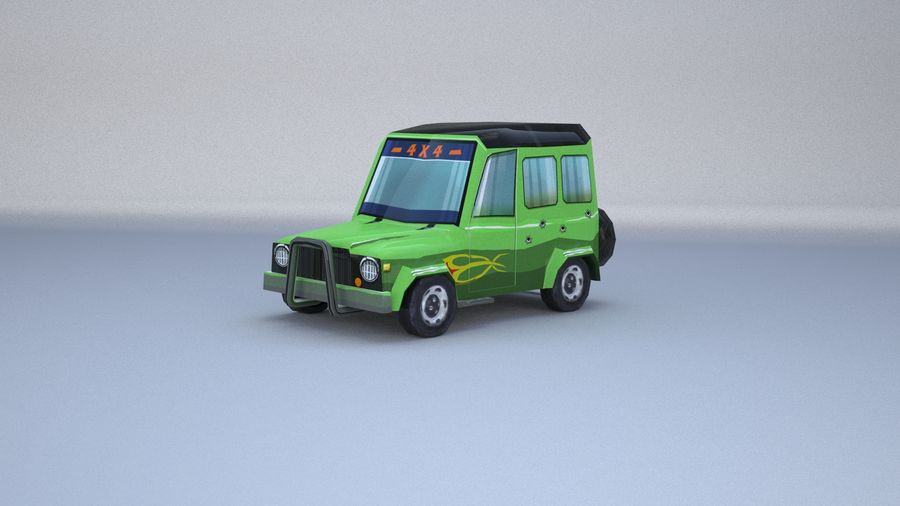 Car jeep 4x4 royalty-free 3d model - Preview no. 2