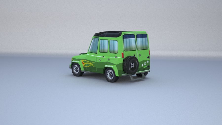 Car jeep 4x4 royalty-free 3d model - Preview no. 15