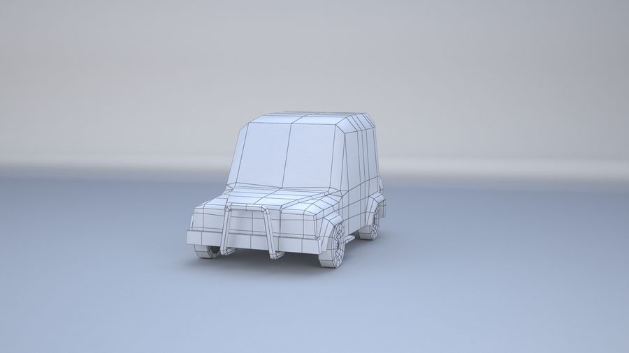Car jeep 4x4 royalty-free 3d model - Preview no. 7