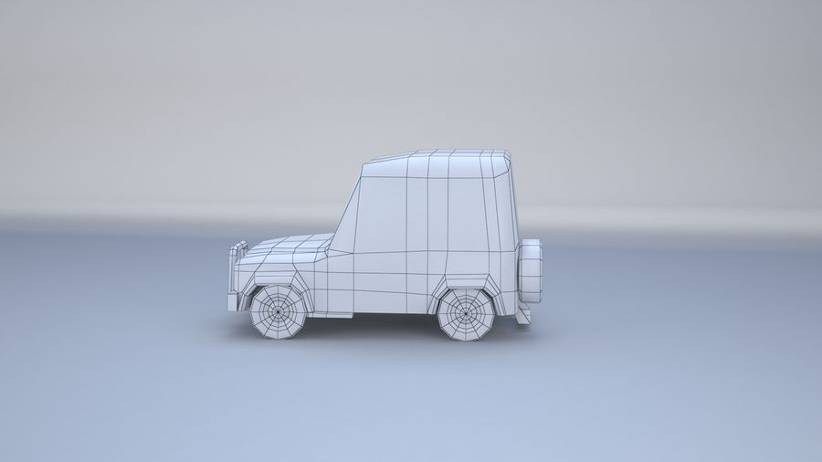 Car jeep 4x4 royalty-free 3d model - Preview no. 18
