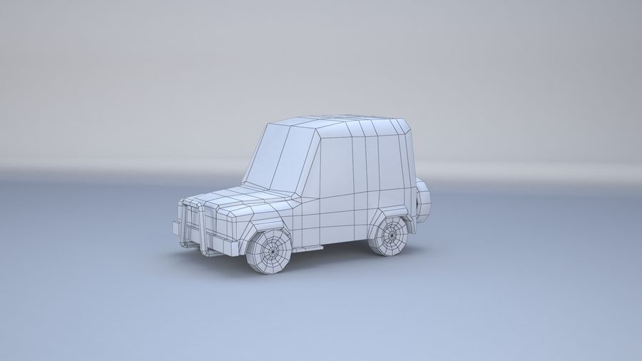 Car jeep 4x4 royalty-free 3d model - Preview no. 22