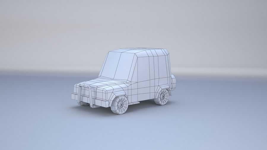 Car jeep 4x4 royalty-free 3d model - Preview no. 5