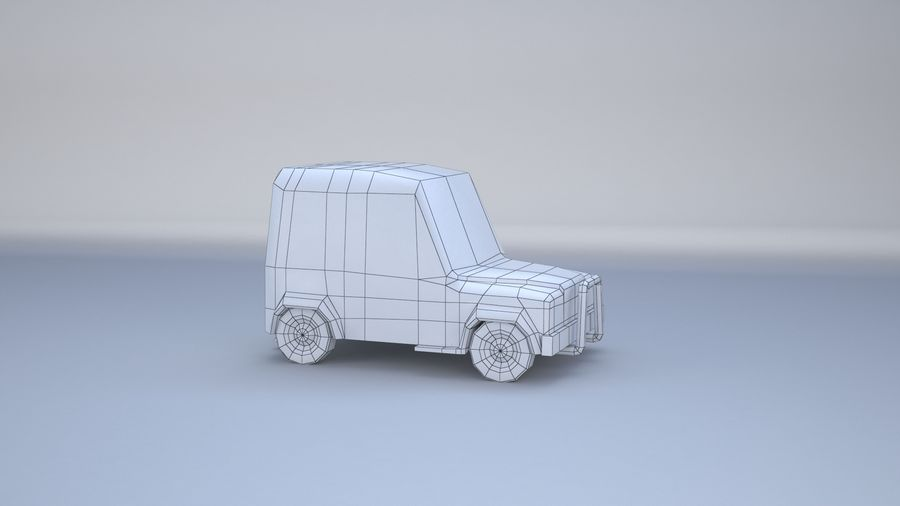 Car jeep 4x4 royalty-free 3d model - Preview no. 11