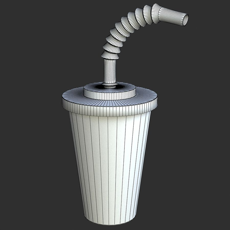 Plastic Drinking Cup royalty-free 3d model - Preview no. 2