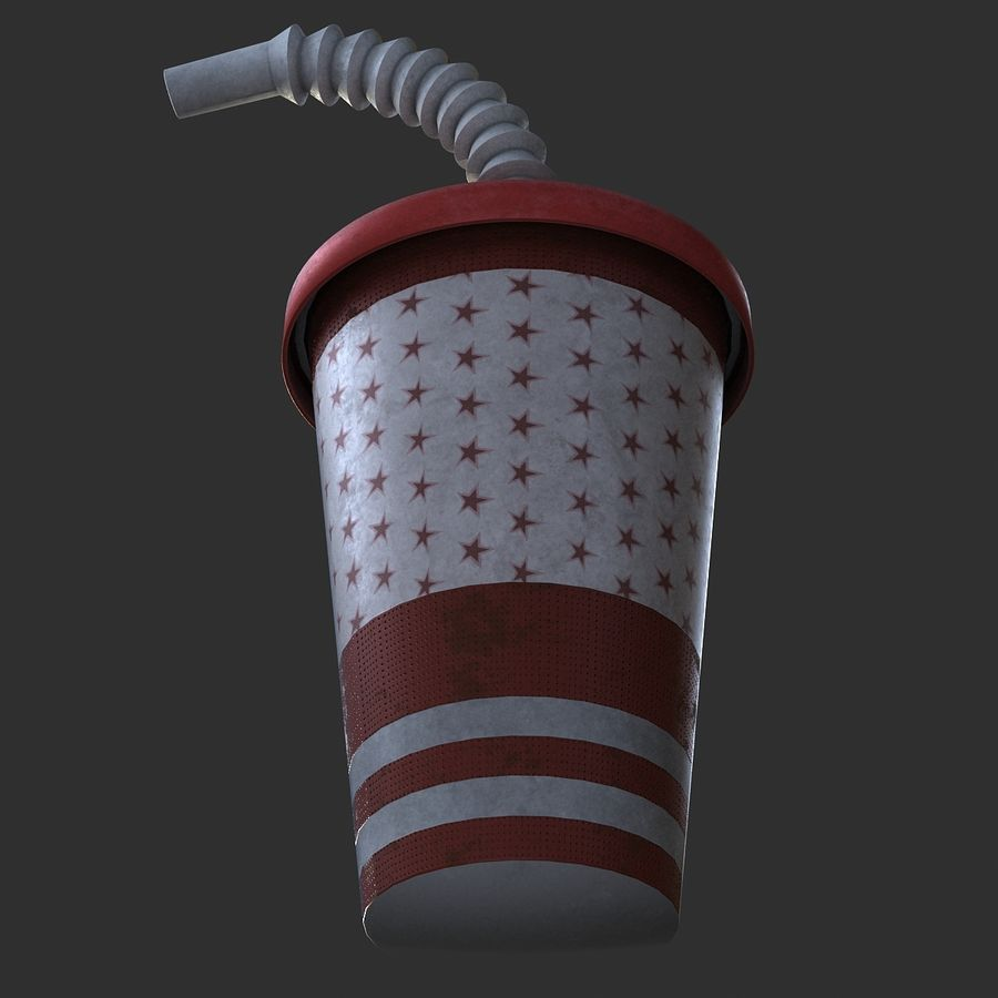 Plastic Drinking Cup royalty-free 3d model - Preview no. 5