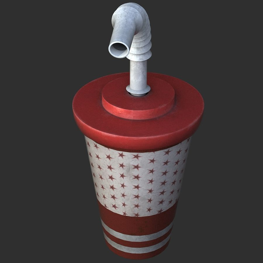 Plastic Drinking Cup royalty-free 3d model - Preview no. 10