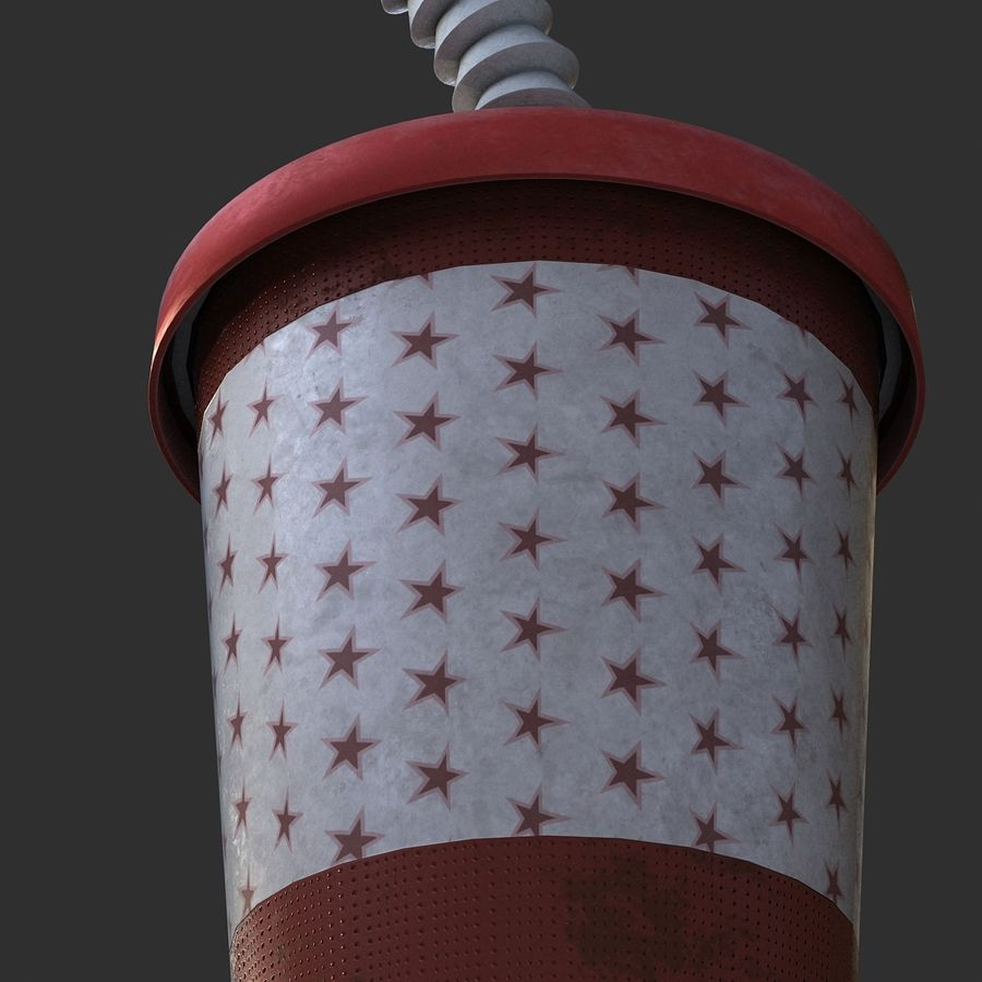Plastic Drinking Cup royalty-free 3d model - Preview no. 8