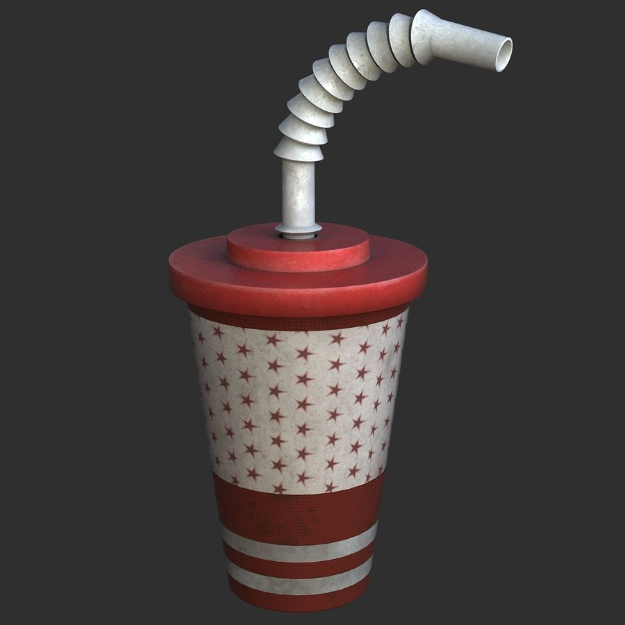 Plastic Drinking Cup royalty-free 3d model - Preview no. 1