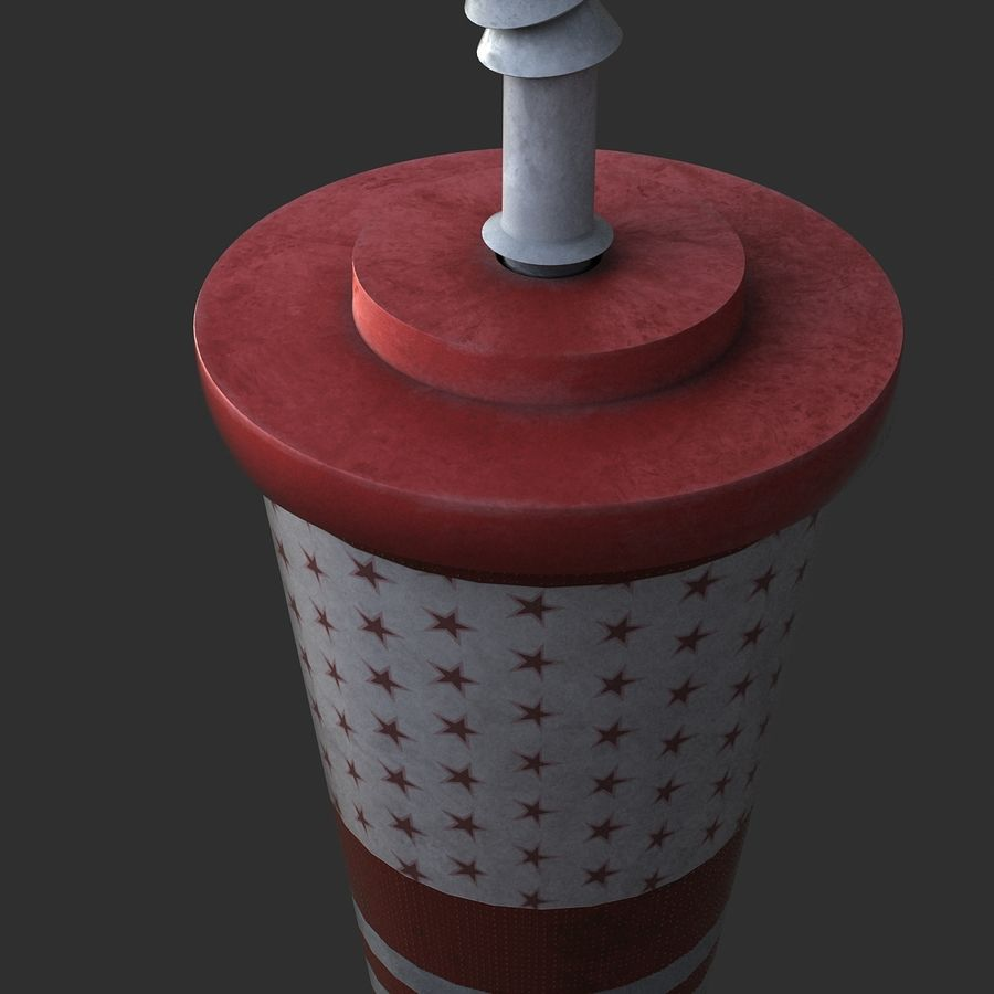 Plastic Drinking Cup royalty-free 3d model - Preview no. 4