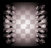 kompletny zestaw szachowy 3d model