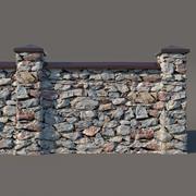 Valla de piedra modelo 3d
