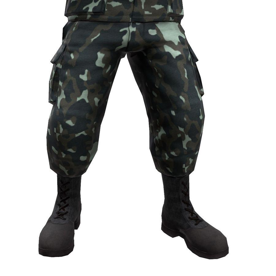 2014年ウクライナの兵士 royalty-free 3d model - Preview no. 9