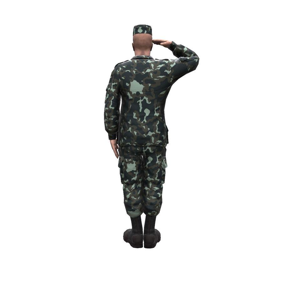 2014年ウクライナの兵士 royalty-free 3d model - Preview no. 4