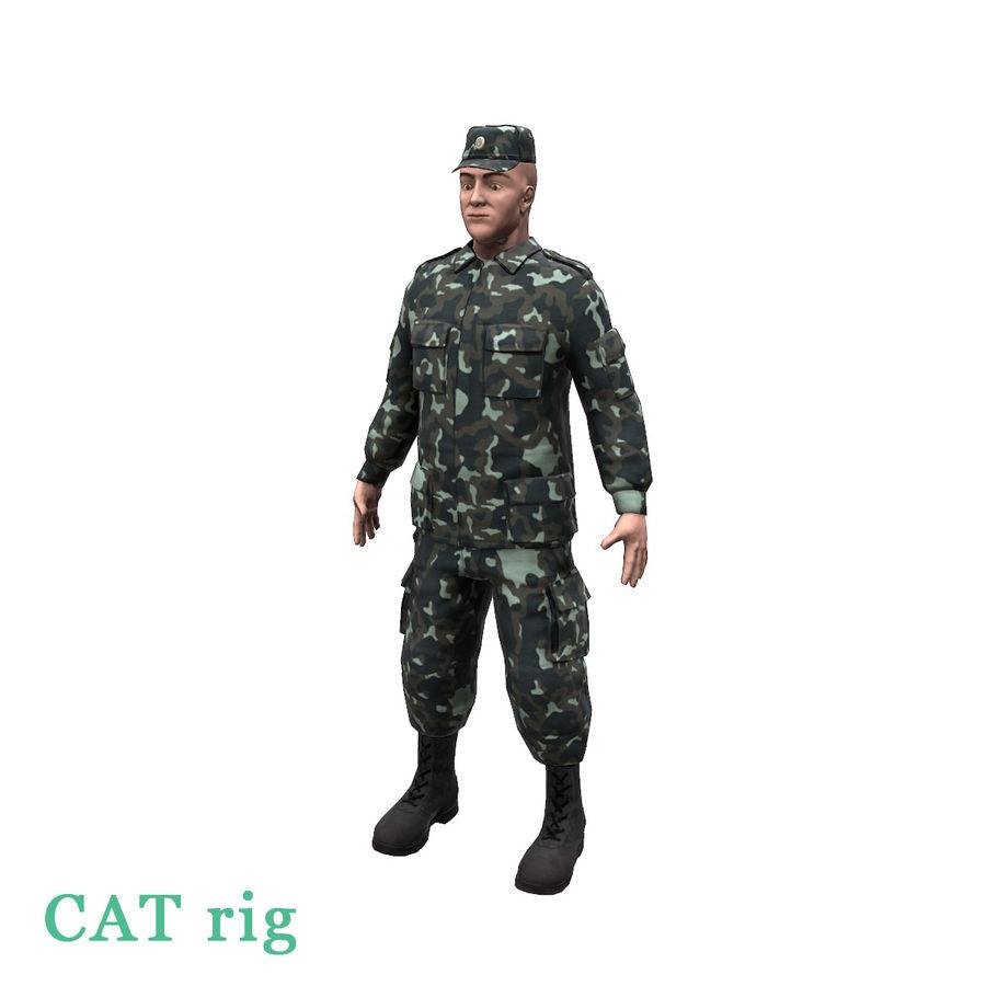 2014年ウクライナの兵士 royalty-free 3d model - Preview no. 1