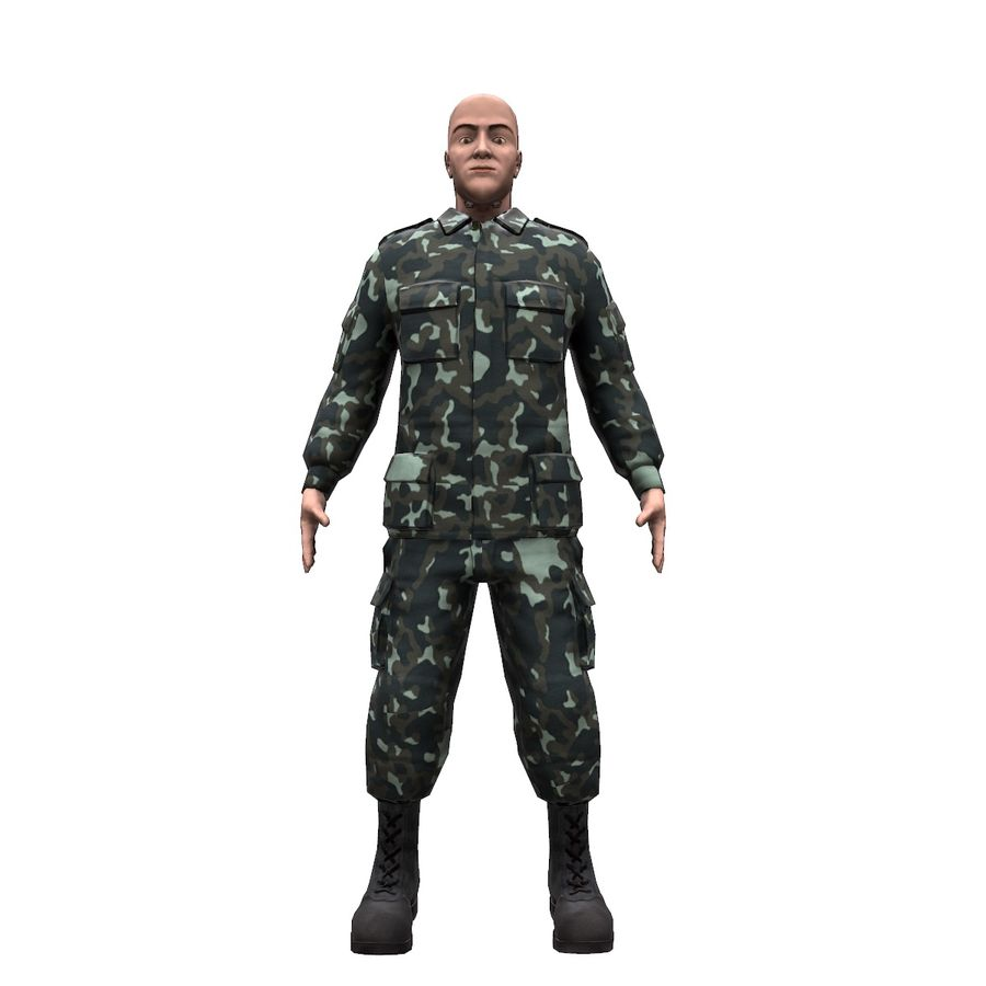2014年ウクライナの兵士 royalty-free 3d model - Preview no. 14