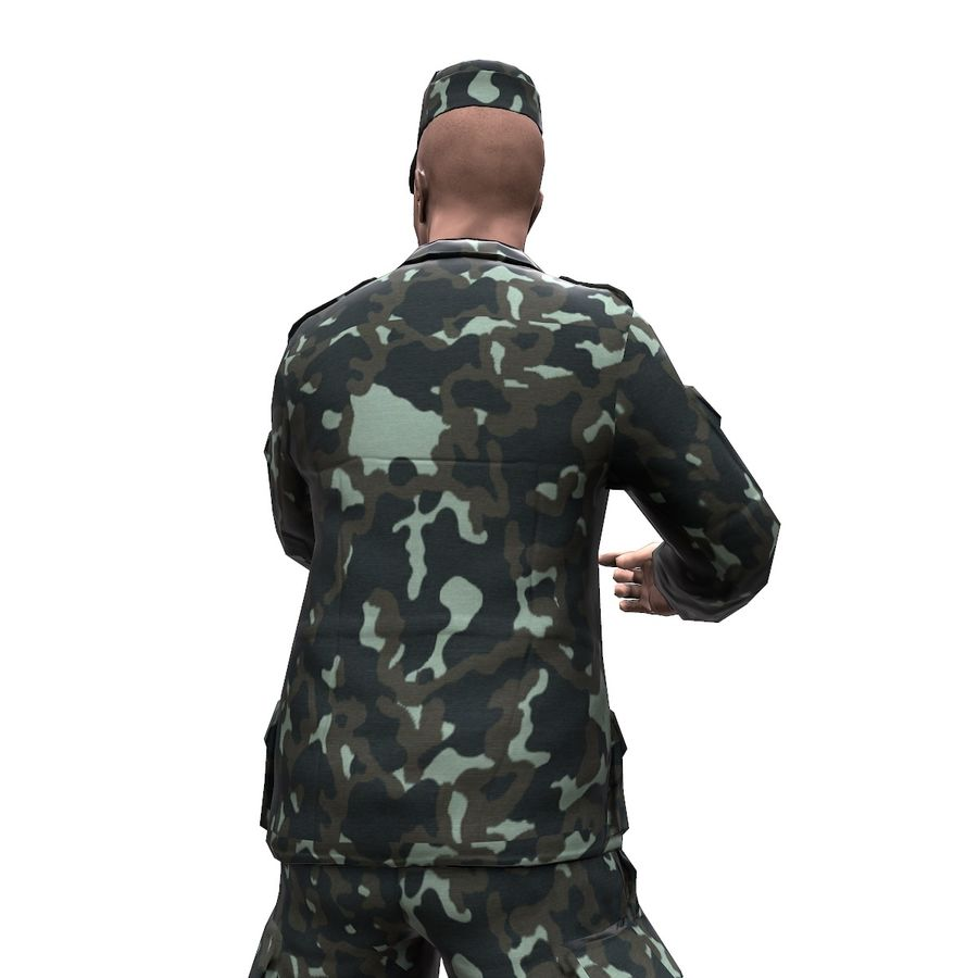 2014年ウクライナの兵士 royalty-free 3d model - Preview no. 10