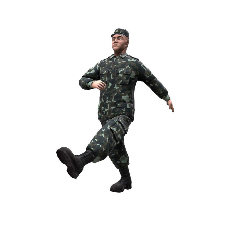 2014年ウクライナの兵士 royalty-free 3d model - Preview no. 6