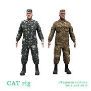2014年と2017年のウクライナの兵士 3d model
