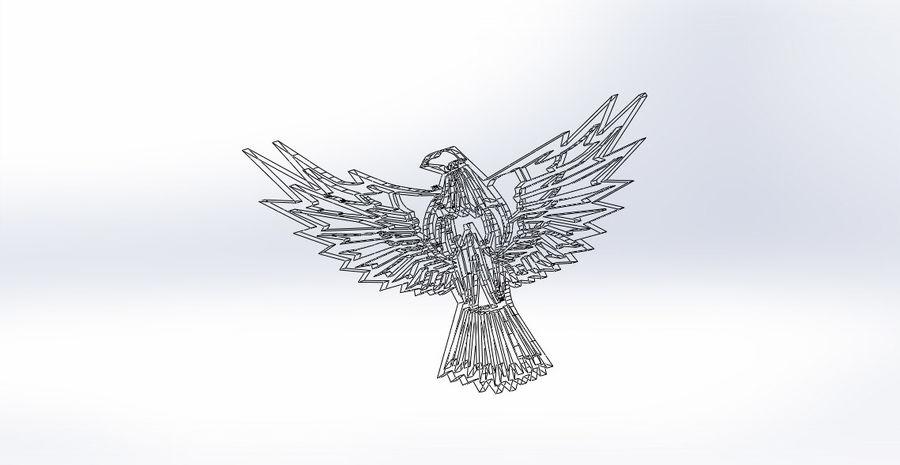金鹰 royalty-free 3d model - Preview no. 13