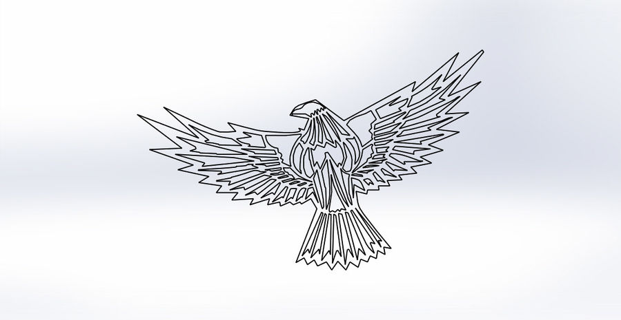 金鹰 royalty-free 3d model - Preview no. 11