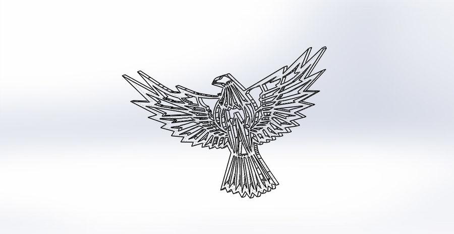金鹰 royalty-free 3d model - Preview no. 12
