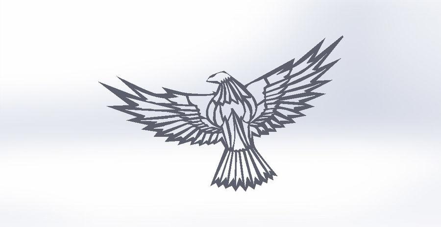 金鹰 royalty-free 3d model - Preview no. 10